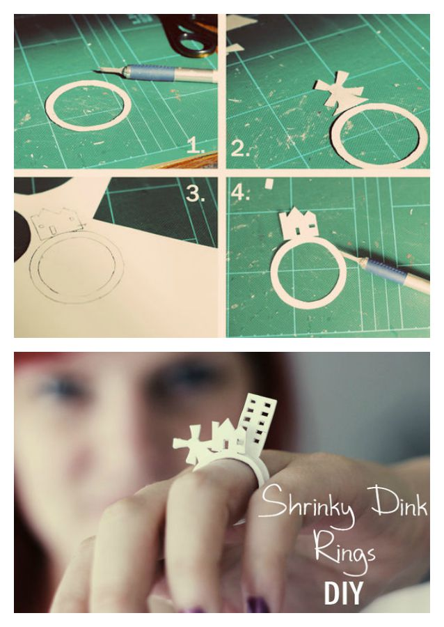 How to make a Shrink Plastic 3D Ring