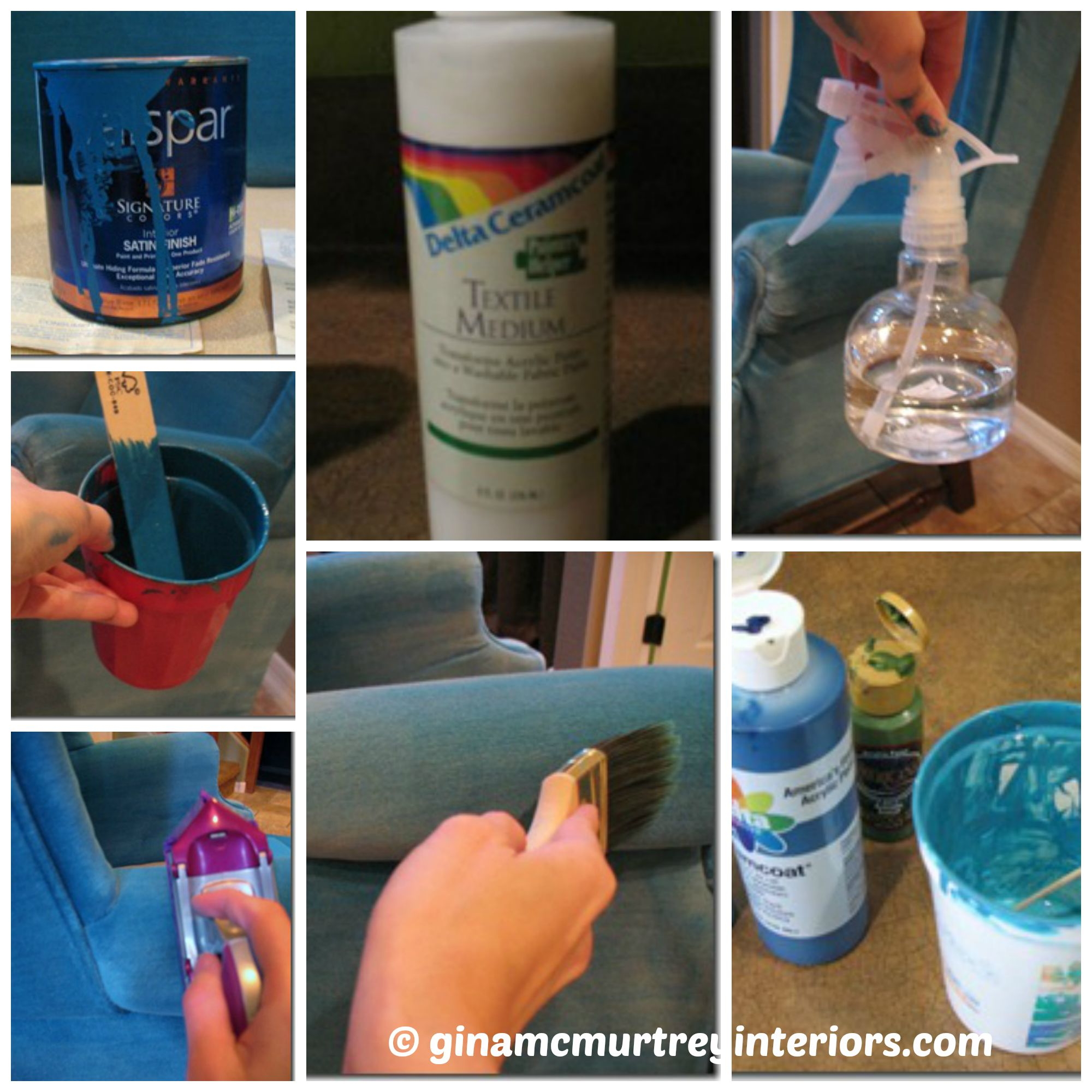 collage furniture paint