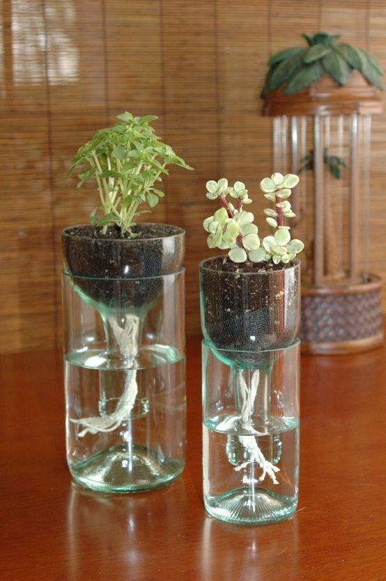 Self Watered Flower Pots
