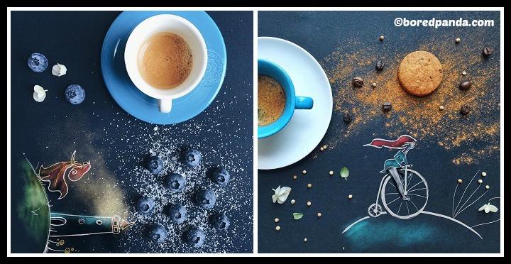 DIY Cute Drawings Morning Coffee Tutorial