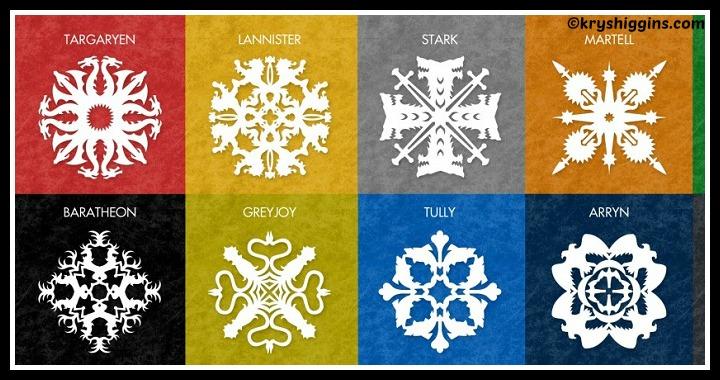 DIY Game of Thrones Snowflake Patterns Tutorial