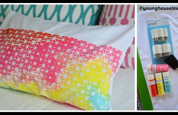 DIY Geometric Fabric Stencil Tutorial