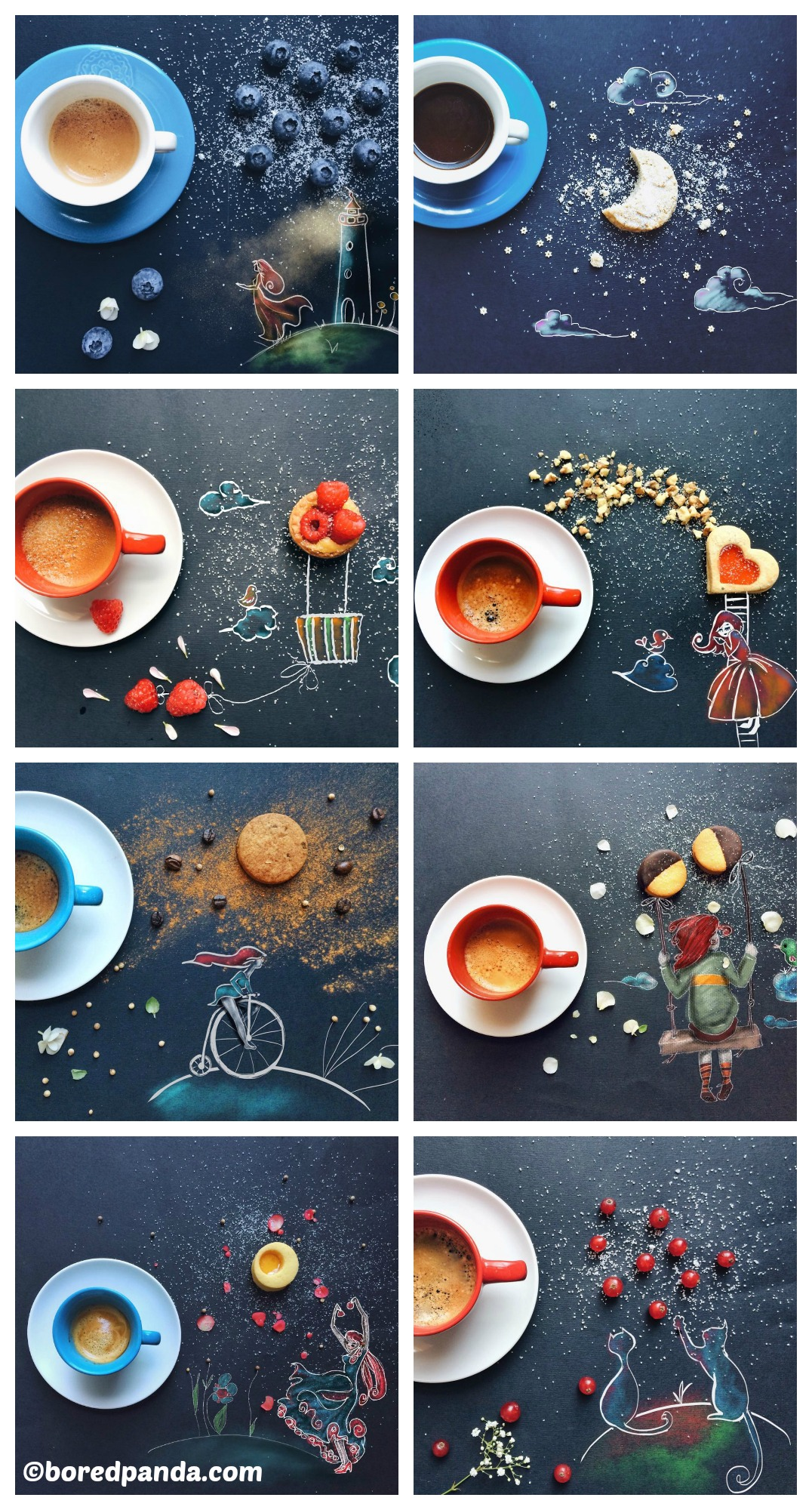How to make DIY Cute Drawings Morning Coffee