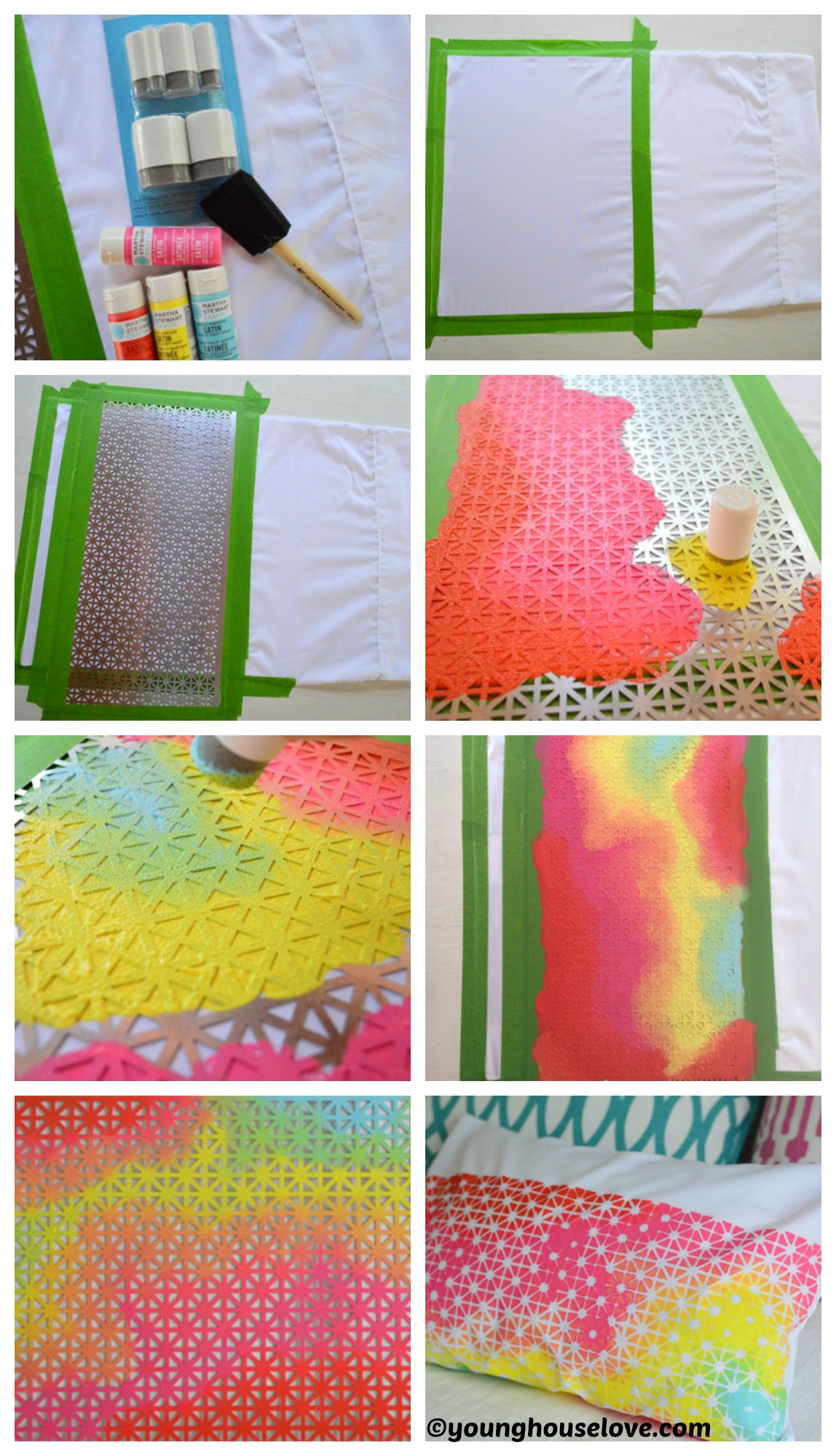 How to make Geometric Fabric Stencil