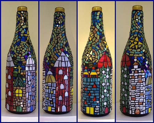 Mozaic Wine Bottles