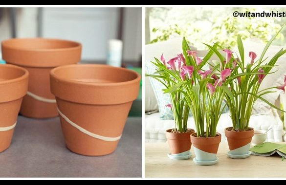DIY Color Dipped Pots Tutorial