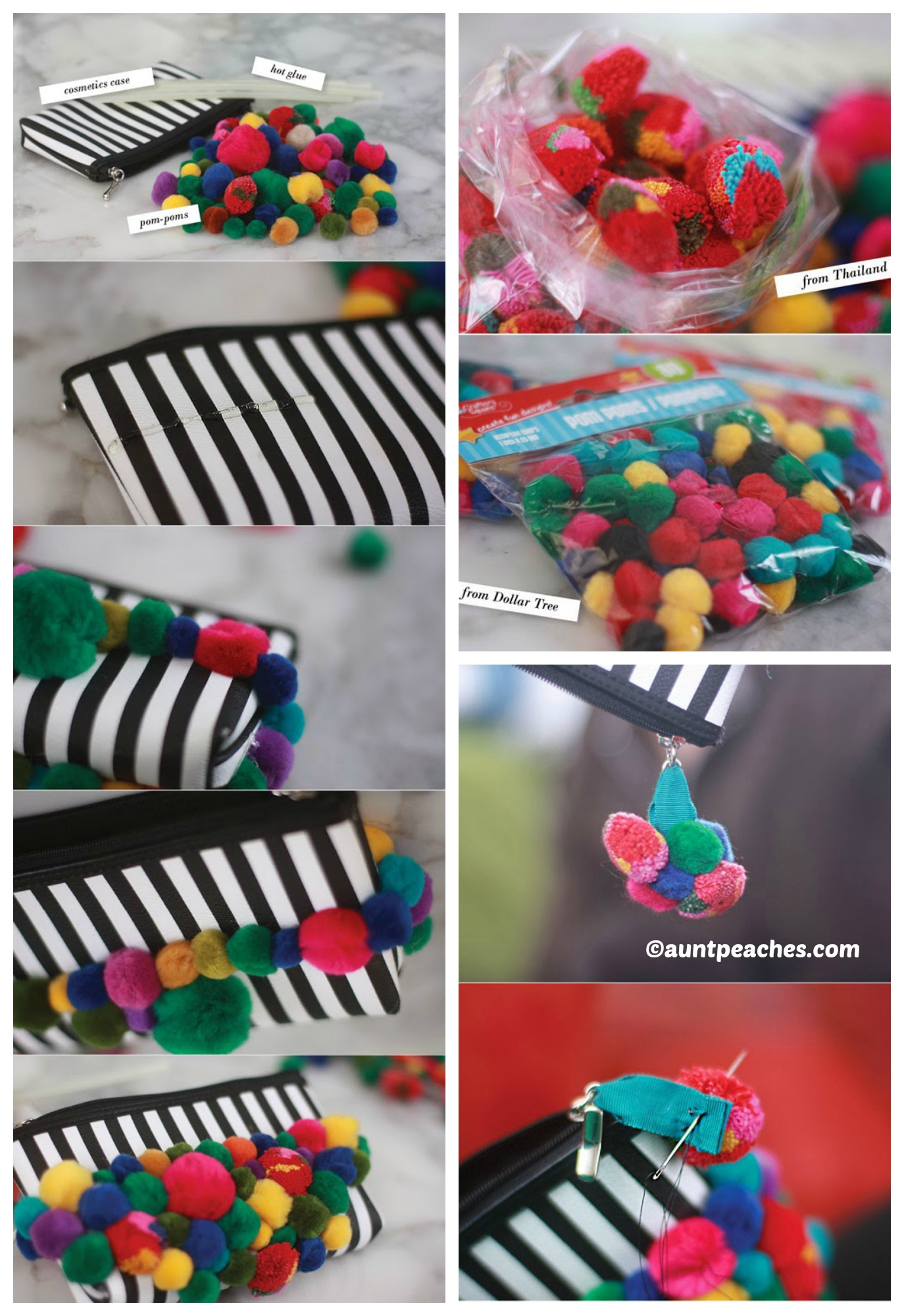 How to make a Pom Pom Purse