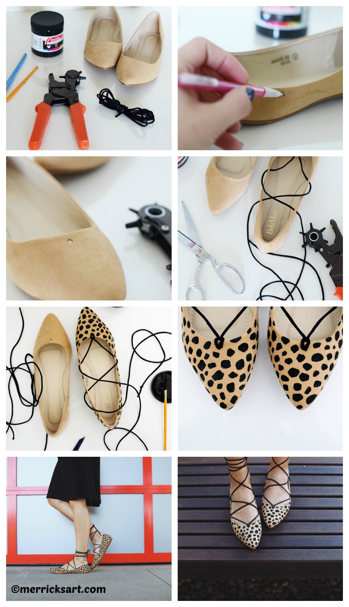 How to make Leopard Lace Up Flats