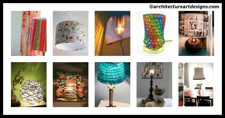 10 DIY Lampshades Ideas Tutorial