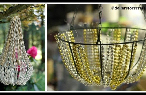 DIY Beaded Chandelier Tutorial