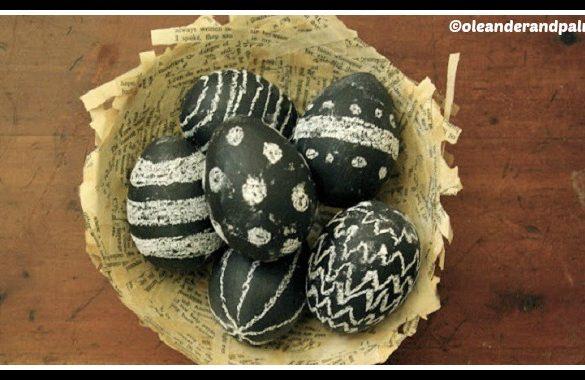 DIY Chalkboard Easter Eggs Tutorial