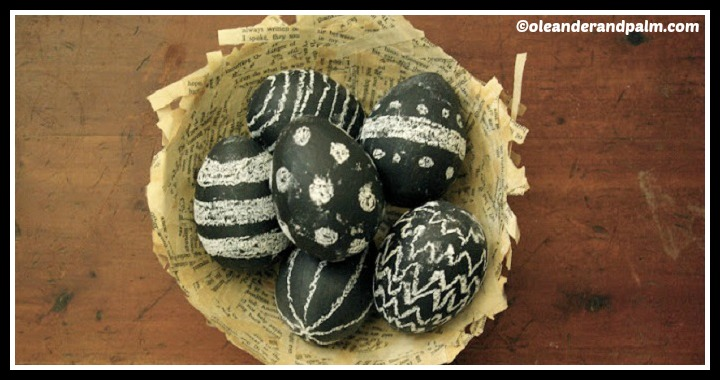 DIY Chalkboard Easter Eggs Tutorial