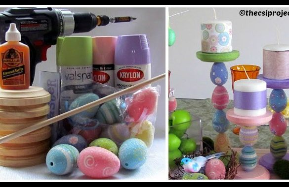 DIY Easter Candle Holder Tutorial