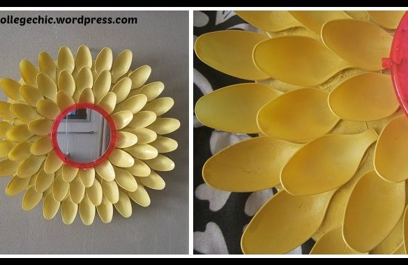 DIY Flower Mirror Tutorial
