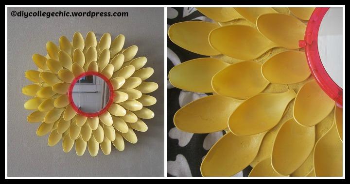 DIY Flower Mirror Tutorial