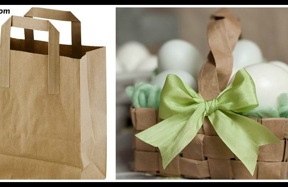 DIY Grocery Bag Easter Basket Tutorial