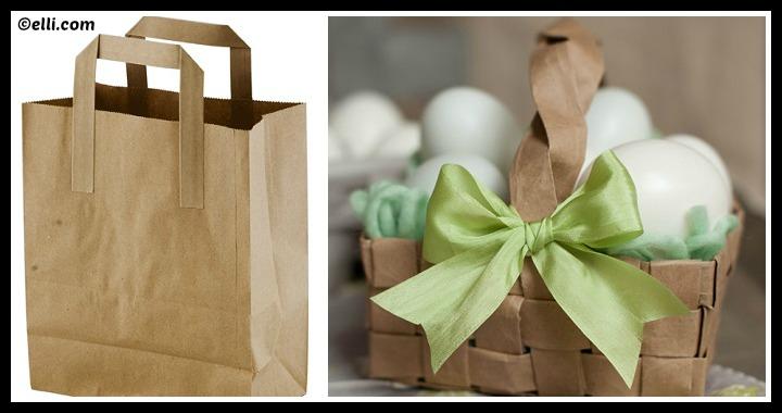 DIY Grocery Bag Easter Basket Tutorial