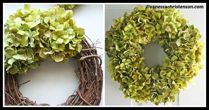 DIY Hydrangea Wreath Tutorial