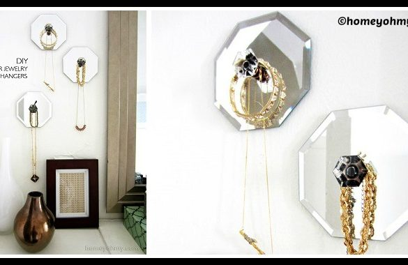 DIY Mirror Jewelry Hangers Tutorial