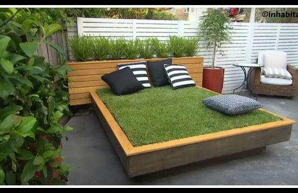DIY Outdoor Grass Bed Tutorial