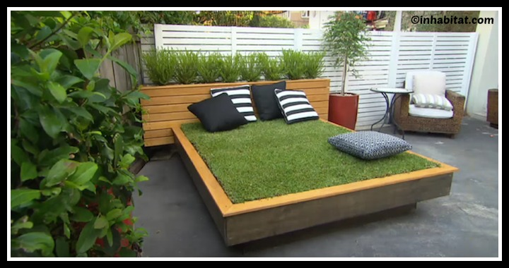 DIY Outdoor Grass Bed Tutorial