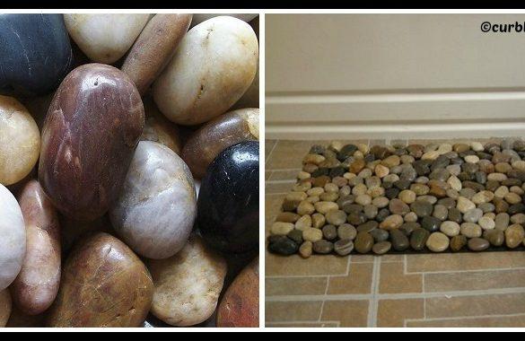 DIY Pebble Bath Mat Tutorial