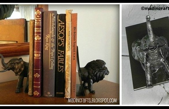 DIY Plastic Animals Bookends Tutorial