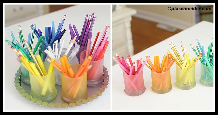 DIY Rainbow Colored Organizer Tutorial