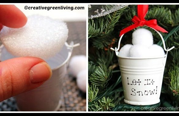DIY Snowfalls Christmas Ornament Tutorial