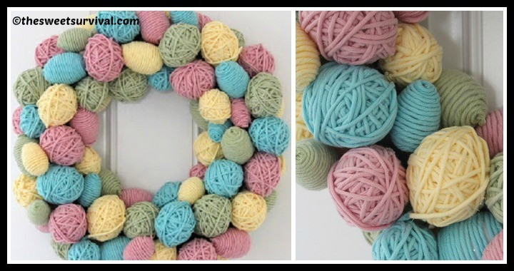 DIY Yarn Egg Wreath Tutorial