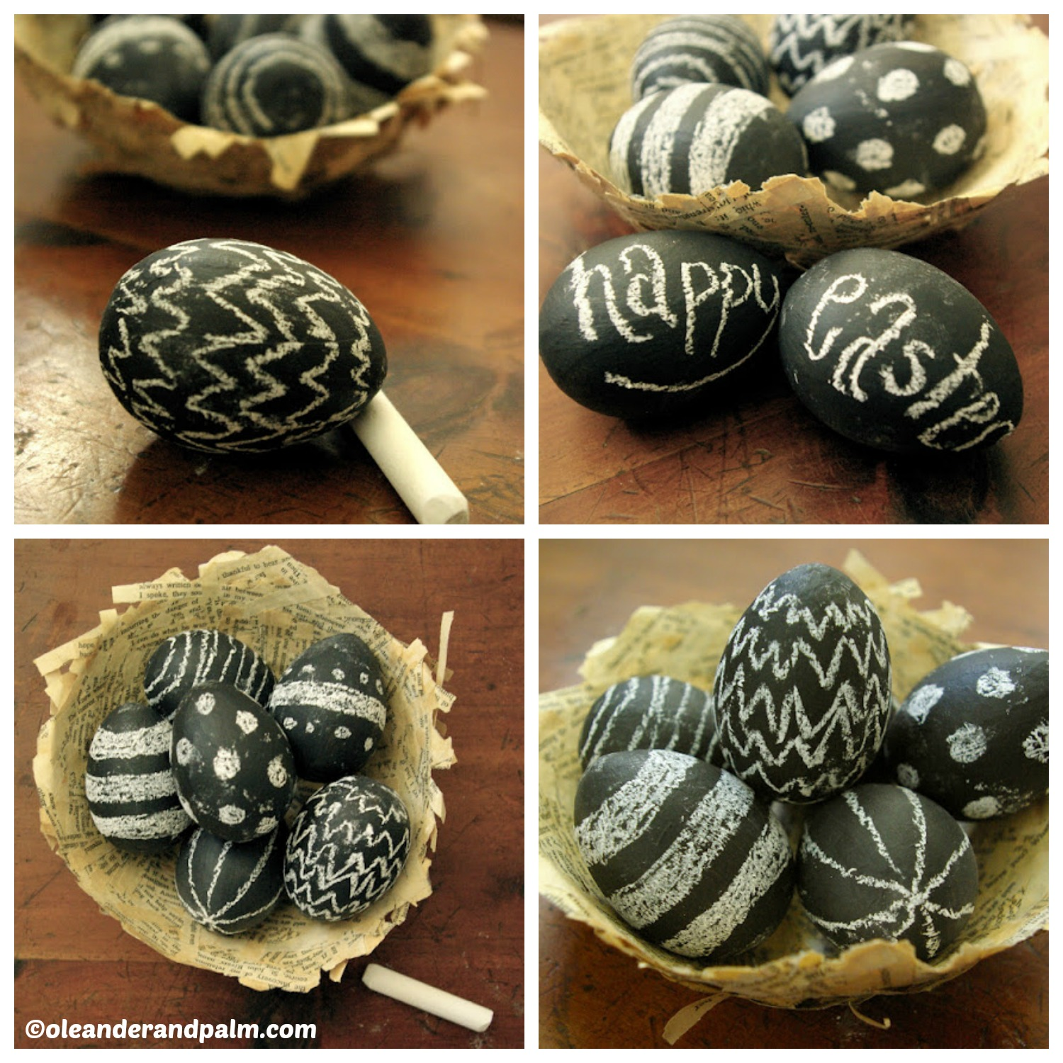 How to make Chalkboard Easter Eggs