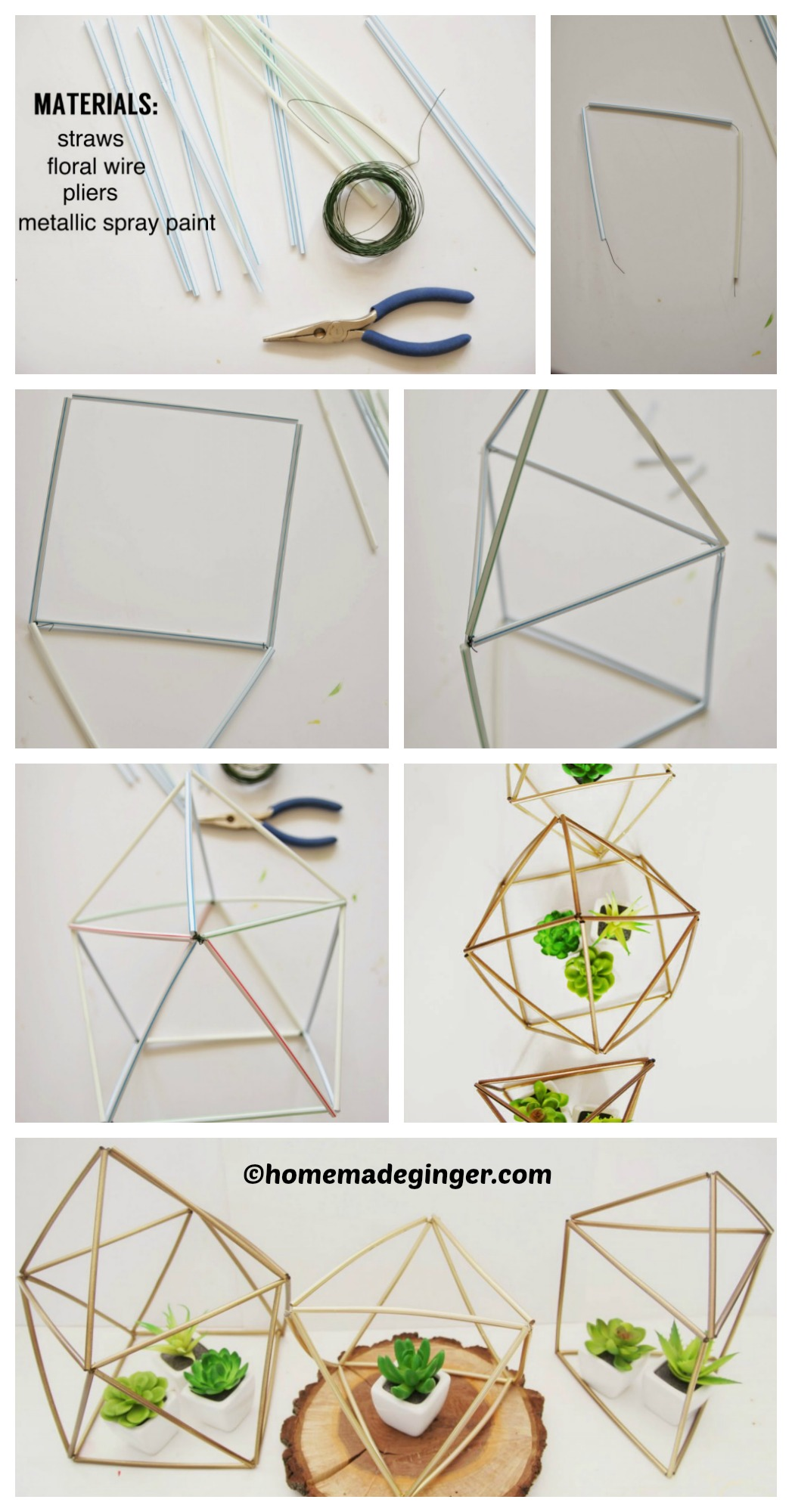 How to make Geometric Planters