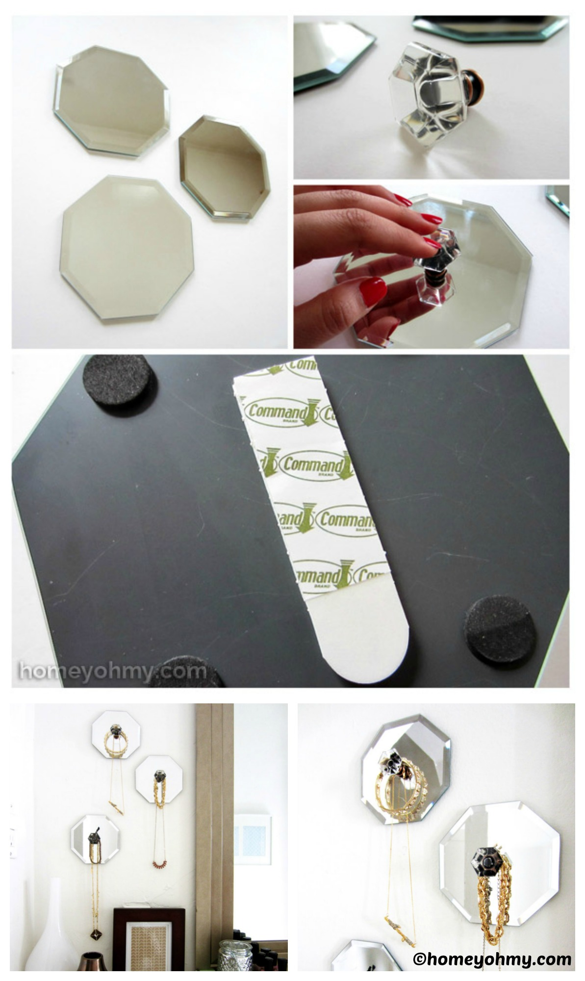 How to make Mirror Jewelry Hangers
