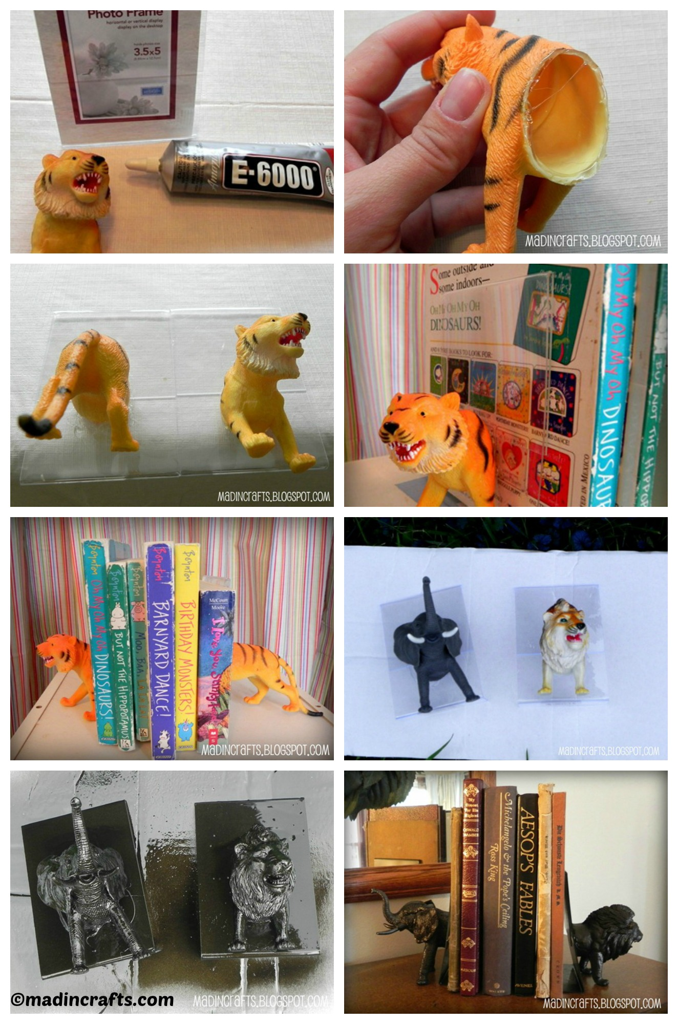 How to make Plastic Animal Bookends