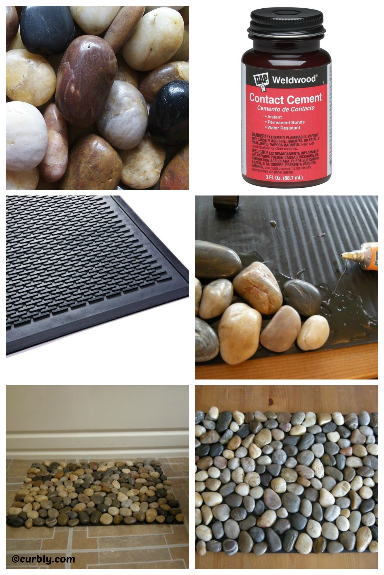 How to make a Pebble Bath Mat