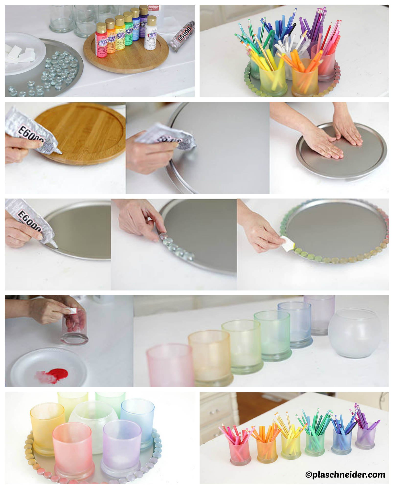How to make a Rainbow Colored Organizer