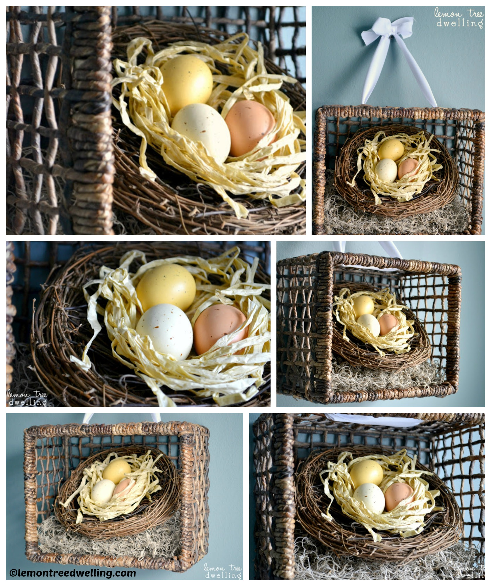 How to make a Spring Basket Wreath
