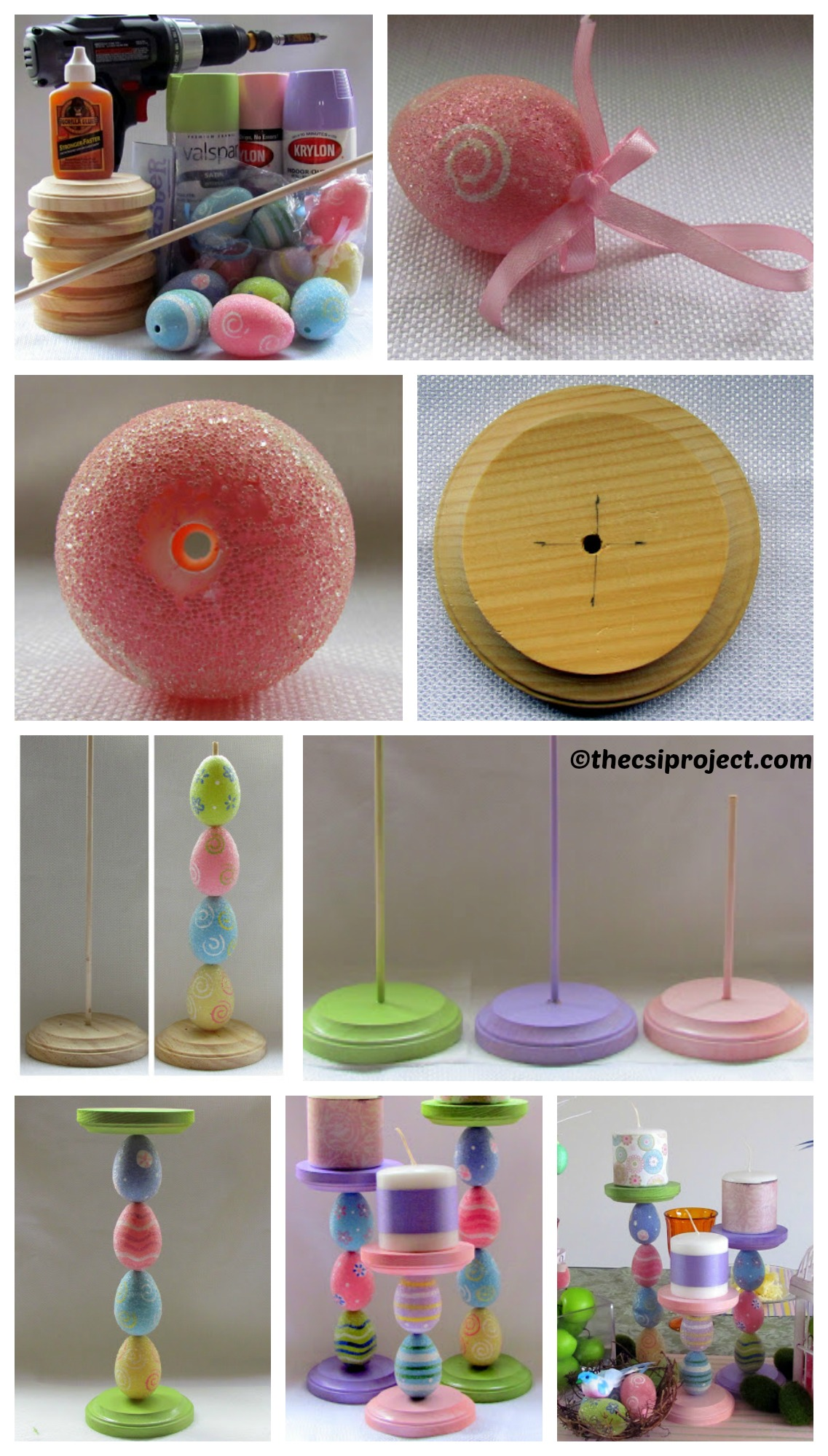 How to make an Easter Candle Holder
