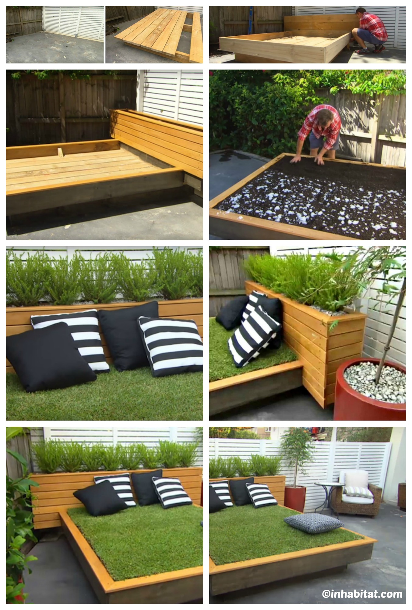 How to make an Outdoor Grass Bed