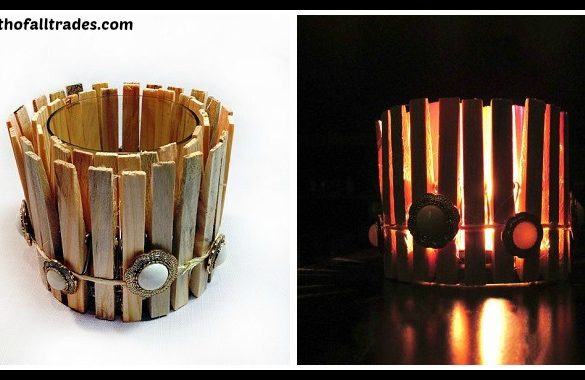 DIY Clothespin Candle Tutorial