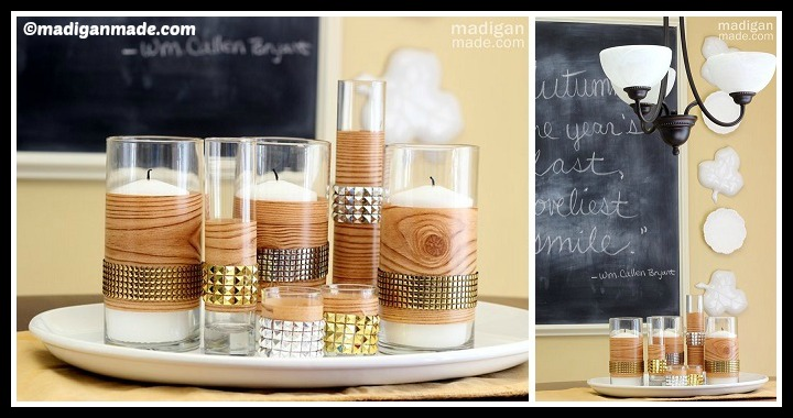 DIY Studded Faux Bois Fall Centerpiece Tutorial