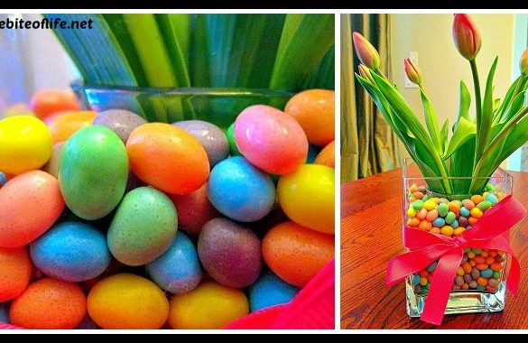 DIY Tulips in Jellybeans Easter CenterPiece Tutorial