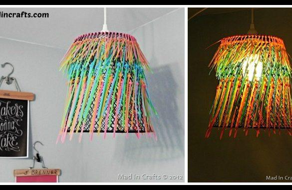 DIY Zip Tie Lampshade Tutorial