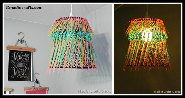 DIY Zip Tie Lampshade Tutorial