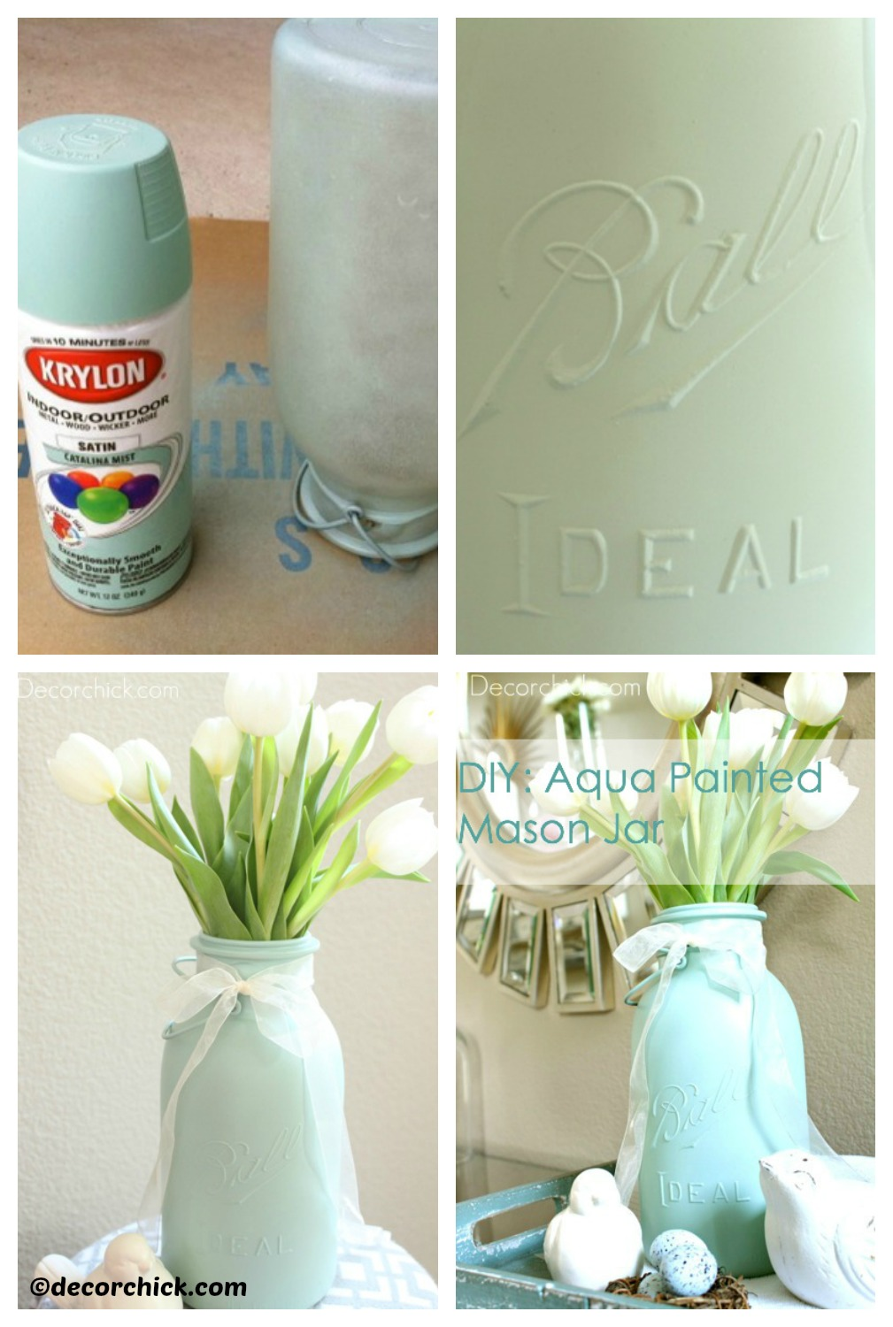How to make a Painted Mason Jar Vase