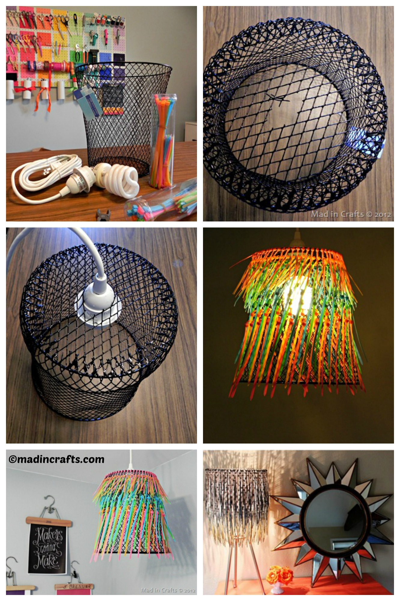 How to make a Zip Tie Lampshade