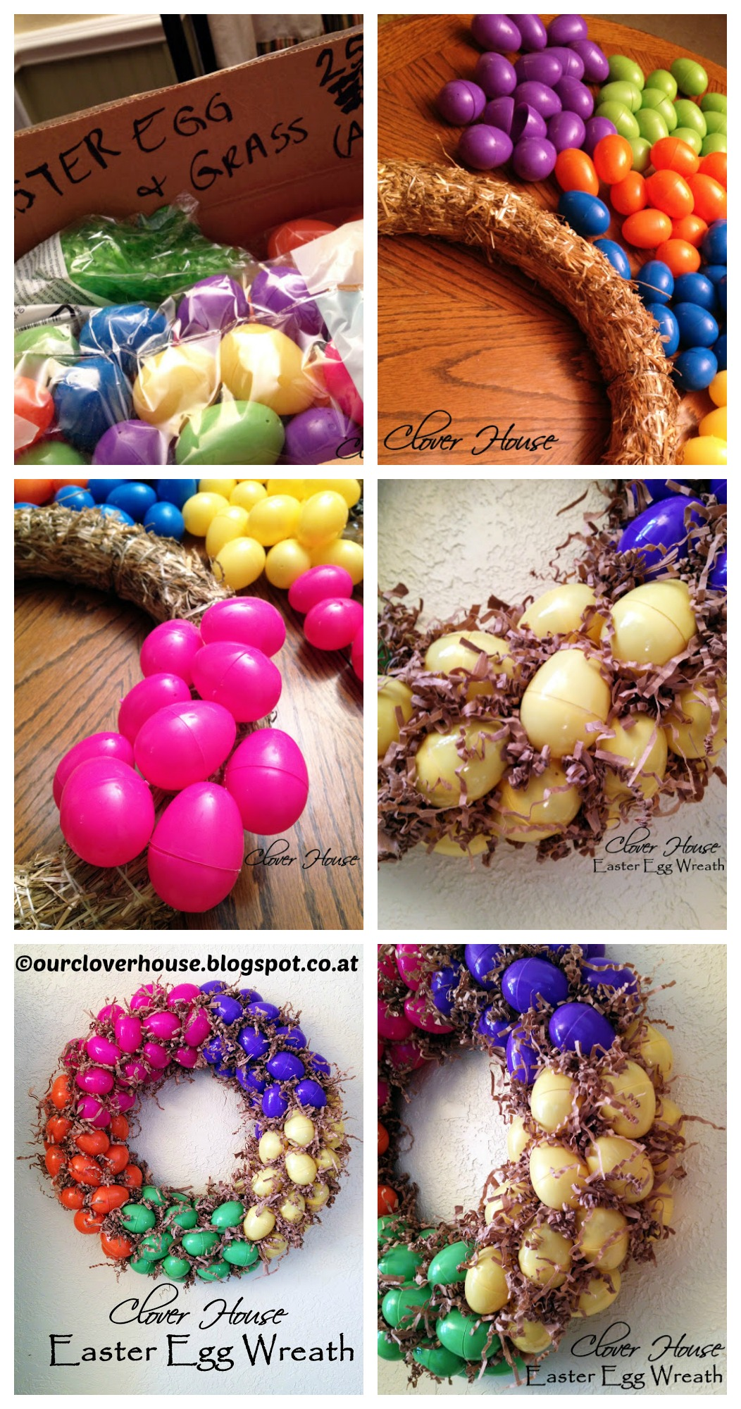 How to make an Easter Egg Wreath