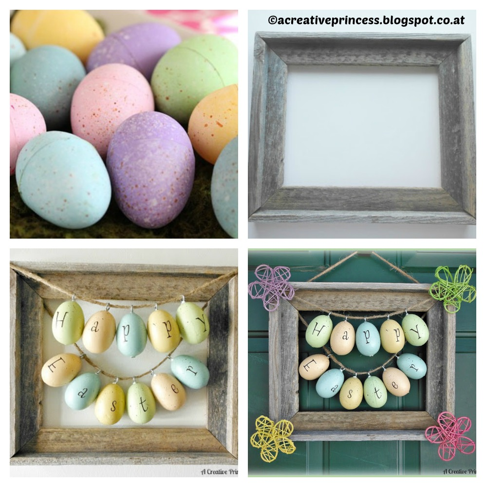 How to make an Easter Picture Frame Wreath