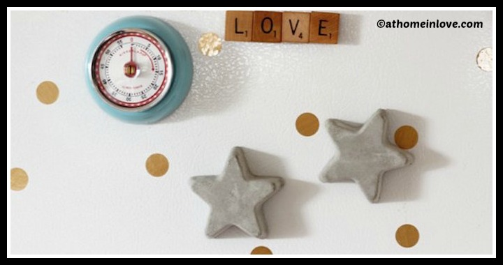 DIY Concrete Star Magnets Tutorial