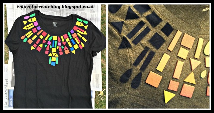 DIY Geometric T-Shirt Tutorial